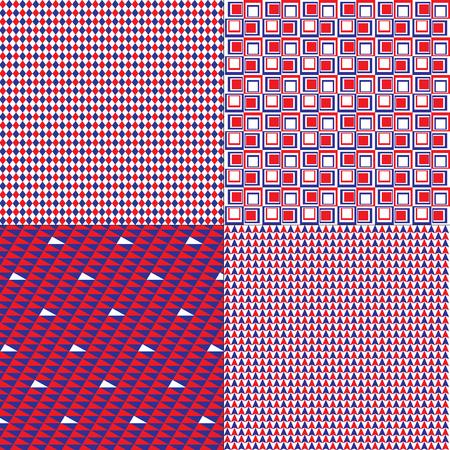 patriotic patterns Illustration