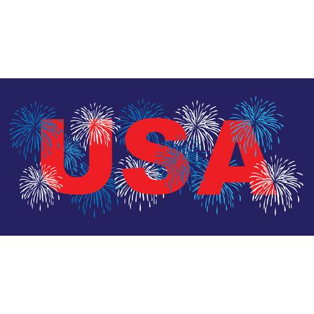 VS met vuurwerk