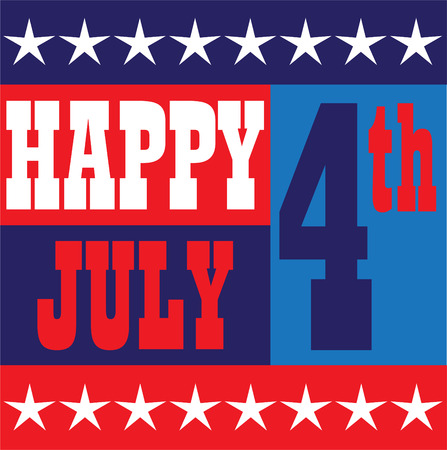 Happy July 4 graphic