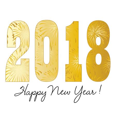 Gradient gold 2018 happy new year.