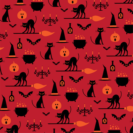 Halloween icons pattern.