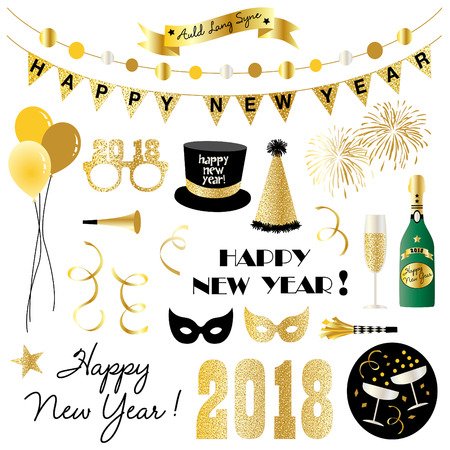 New years eve clipart. Illustration