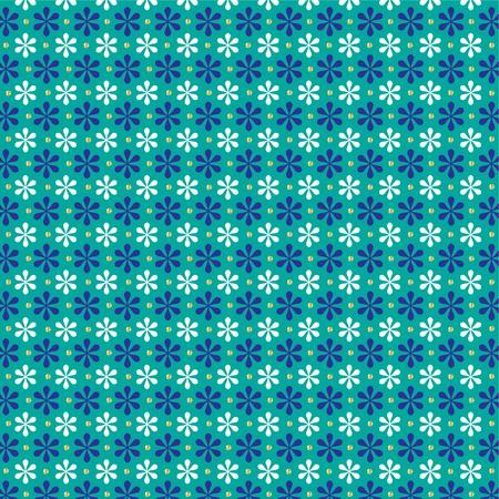 turquoise blue gold glitter snowflake pattern