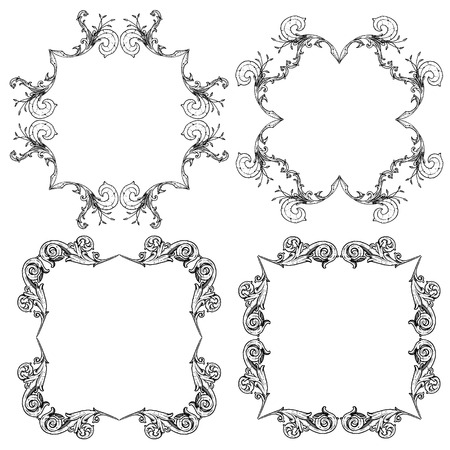 Ornate Scroll Frames Royalty Free Cliparts, Vectors, And Stock ...