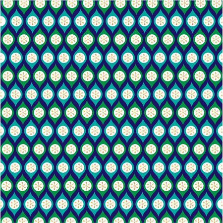 blue green gold glitter ornament pattern on blue