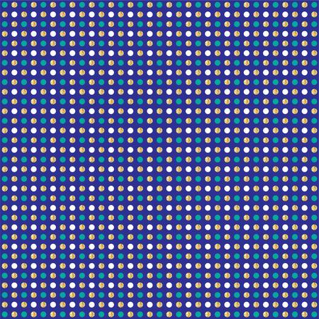 blue gold glitter polka dot pattern