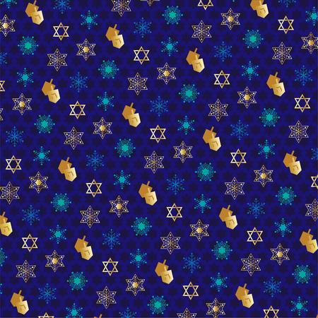 Chanukah pattern with dreidels