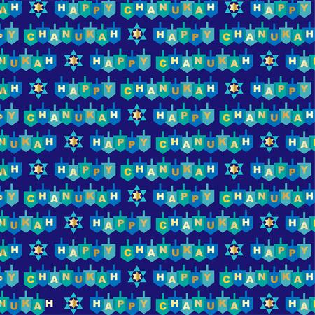 Happy chanukah pattern Illustration