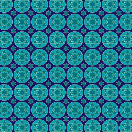 jewish star pattern Illustration