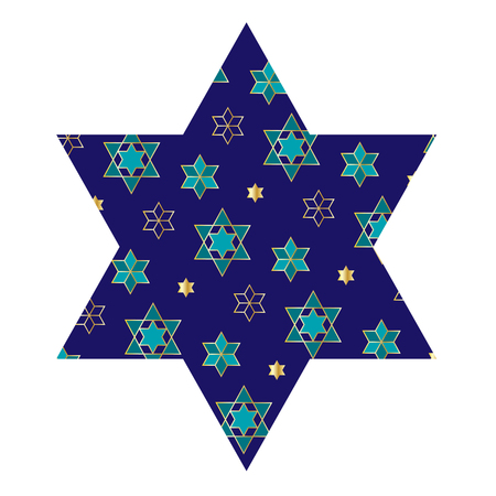 Jewish star with pattern