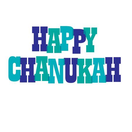 happy chanukah typography