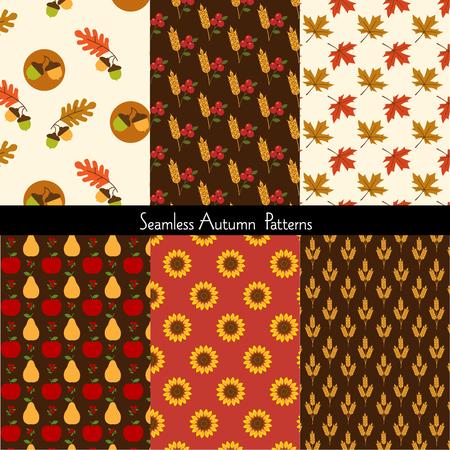 Modèles d'automne sans soudure Banque d'images - 87700781