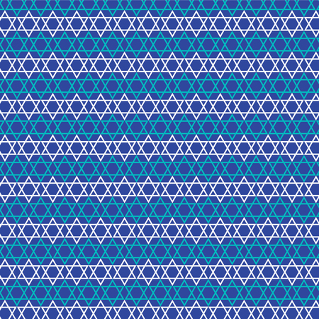 A Jewish star stripe pattern vector illustration. Illustration