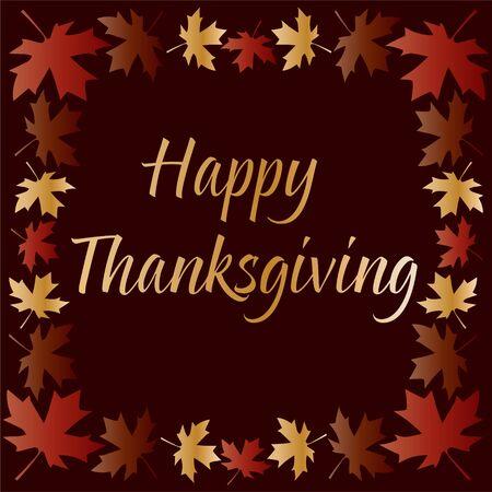 葉のグラデーションにゴールドの感謝祭タイポグラフィ 写真素材 - 88580888