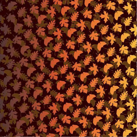 ブラウンのグラデーションの層状葉のパターン。