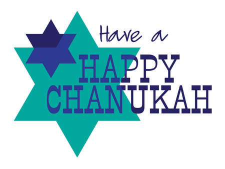 Chanukah graphic greeting background Illustration