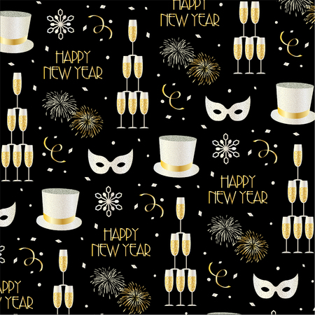 new years eve pattern vector background pattern