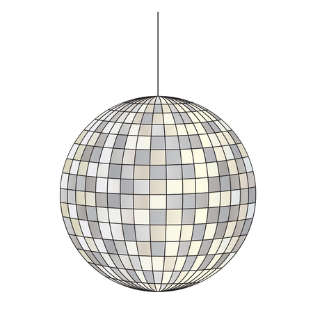 mirrored disco ball vector clipart illustration