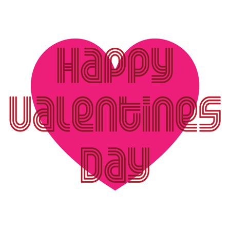 mod valentines day heart typography vector graphic with heart