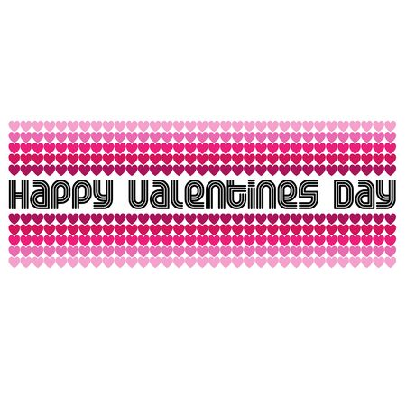 mod valentines day vector graphic with typography and hearts Ilustrace