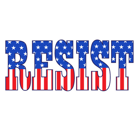 resist typography with stars and stripes vector graphic Ilustrace