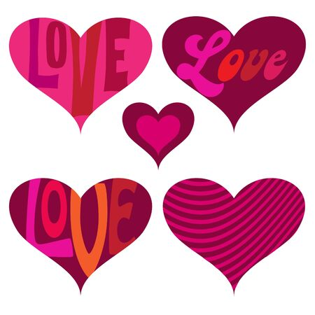 Mod valentines day hearts vector graphics