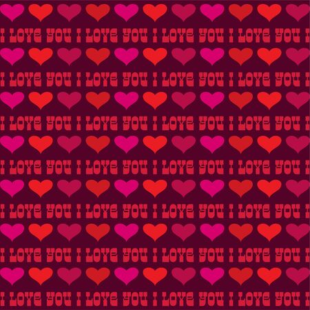 mod valentines day stripe with hearts background pattern