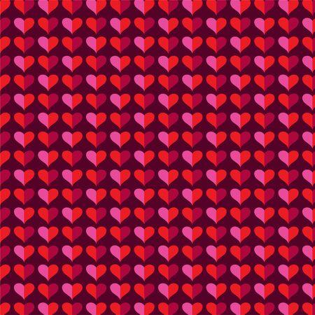 mod heart background valentines day pattern