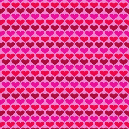 Simple valentines day heart vector background pattern on pink Ilustrace