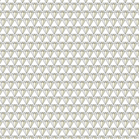 Diamond jewels background vector pattern on white Vectores