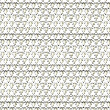 Diamond jewels background vector pattern on white Illustration