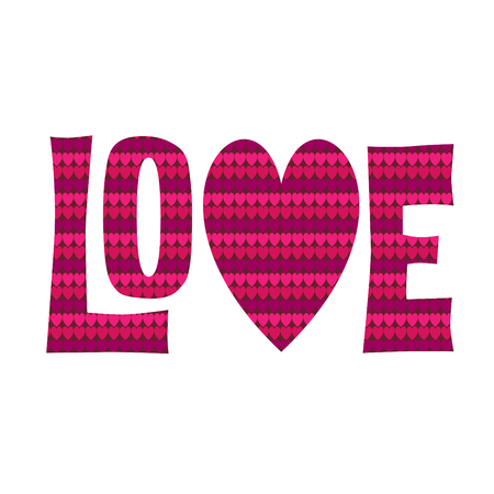 Love graphic with heart shape vector graphic