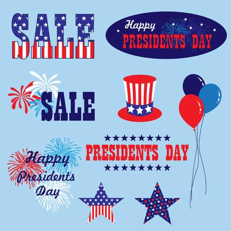 President's day vector graphics clip art.