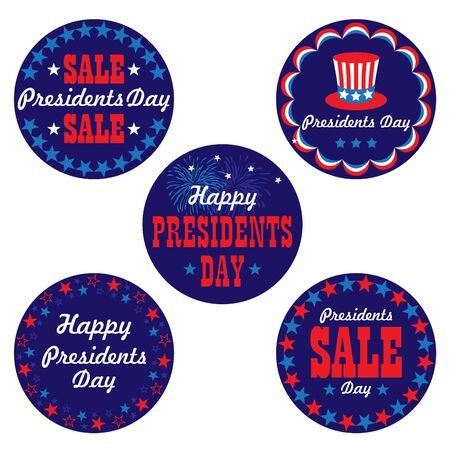 Presidents day graphic icon vector graphics.