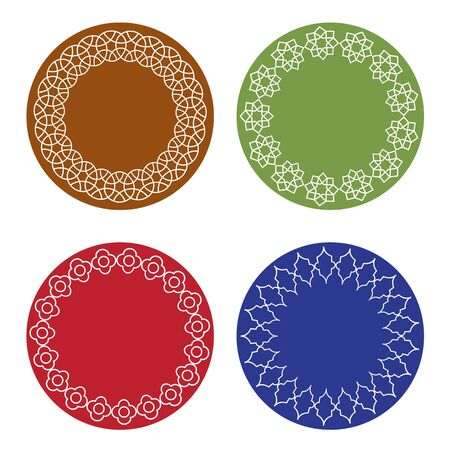 Colorful Moroccan vector frames set Stock Illustratie