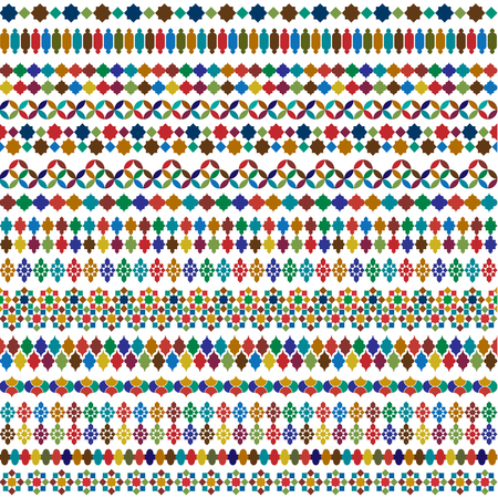 colorful Moroccan vector border patterns