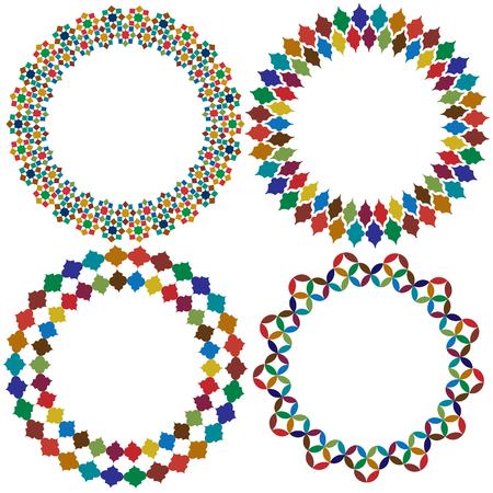 Moroccan tile frames vector clipart graphics