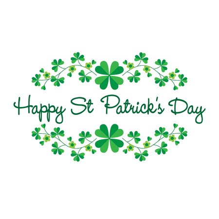 Saint Patricks Day graphic with border pattern