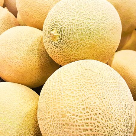 Ripe tasty melons for fun. healthy eating. selective focus.