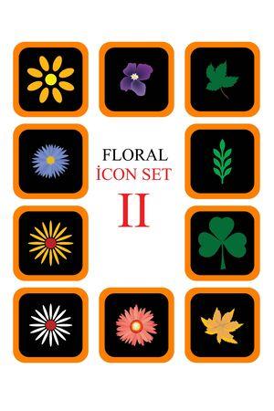 Floral �con Set II