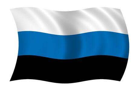 Estonia Wave Flag Stock Photo