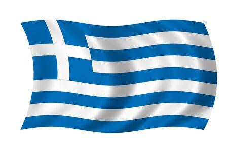 Greece Wave Flag