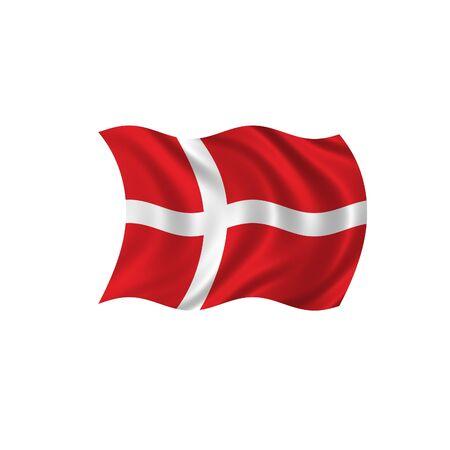 Denmark Wave Flag Stock Photo