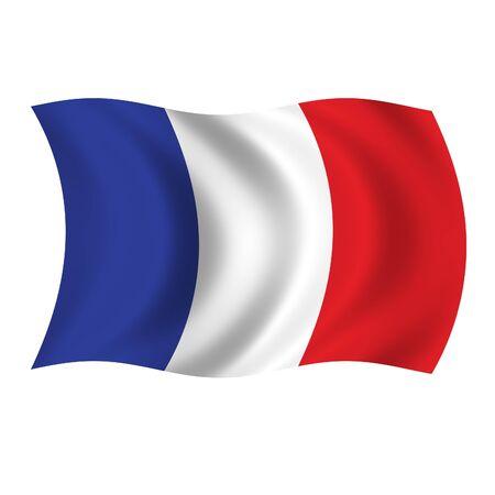 France Wave Flag Stock Photo