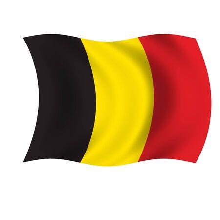 Belgium Wave Flag