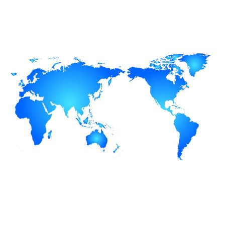 Blue World Map Stock Photo