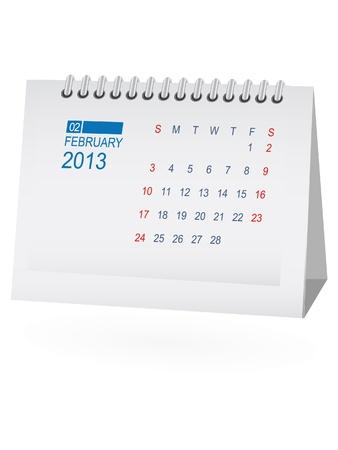 calendario da tavolo: Febbraio 2013 Desk Calendar