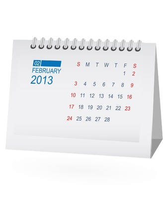 note pc: February 2013 Desk Calendar