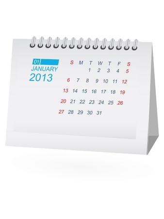 calendario da tavolo: Gennaio 2013 Desk Calendar
