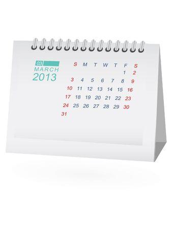 calendario da tavolo: Marzo 2013 Desk Calendar